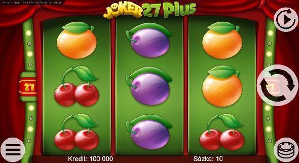 Online výherní automat Joker 27 Plus